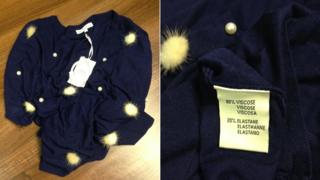 Jumper and label