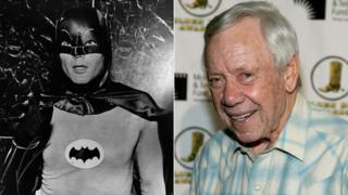 Adam West as Batman and Leslie H Martinson in 2006