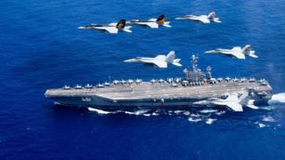 Một hàng không mẫu hạm của Hải quân Hoa Kỳ