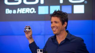 GoPro boss Nick Woodman in 2014 when the firm's shares started trading on the Nasdaq exchange
