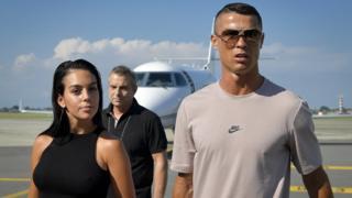 Cristiano Ronaldo et le mannequin Georgina Rodriguez à Turin
