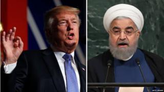 अमेरिकेचे अध्यक्ष डोनाल्ड ट्रंप आणि इराणचे अध्यक्ष रुहानी