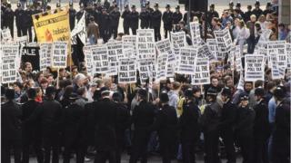 Poll tax demonstration in London