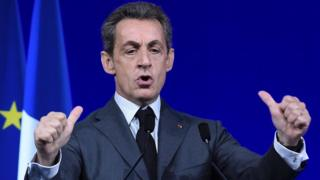 Nicolas Sarkozy giving a speech in Paris (February 2016)