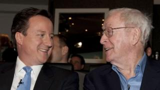 David Cameron meets Sir Michael Caine