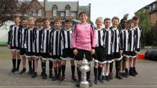 Flora Stevenson's P7 football team