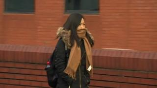 Chuanfang Zheng outside Leicester Crown Court