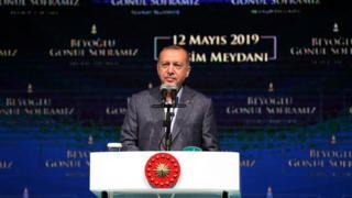 Cumhurbaşkanı Recep Tayyip Erdoğan Taksim