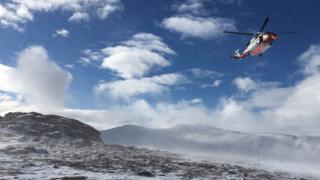 Coastguard helicopter