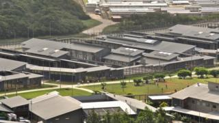 A general view of asylum seekers and facilities at Christmas Island Detention Centre, on July 26, 2013 on Christmas Island.
