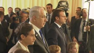 Netanyahu na Macron mu muhango wo kwibuka