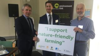 UFU president Barclay Bell; John Martin of Nature Matters NI ; Patrick Casement of NI Environment Link