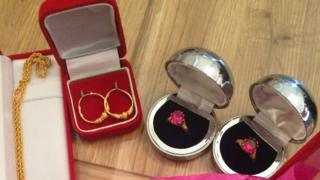 Some of the stolen Asian gold jewellery