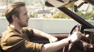 Ryan Gosling in the opening scene of La La Land