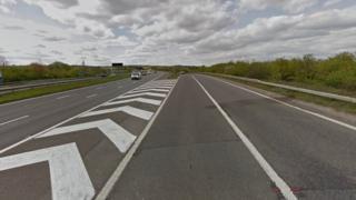 M27 slip road