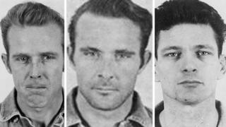 (L-R) John Anglin, Clarence Anglin and Frank Morris before their escape