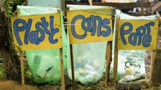 Glastonbury recycling bins