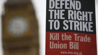 Trade Union Bill poster