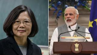 ताइवान की राष्ट्रपति और भारतीय प्रधानमंत्री