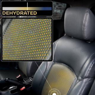 Car seat with yellow covering