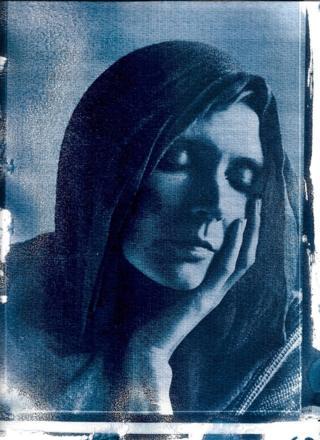 Cyanotype portrait