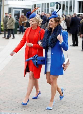 Racegoers during Ladies Day of the 2019 Cheltenham Festival
