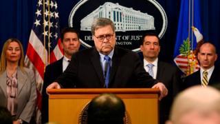 وزير العدل الأمريكي وليام بار