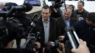 Ted Cruz faces the media