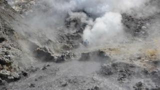 La caldera del Campi Flegrei en Italia