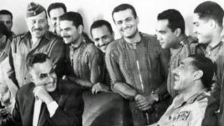 Nasser laughing with pilots in the days before the six-day war