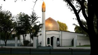 A file picture of the Al Noor Mosque on Deans Avenue in Christchurch, New Zealand