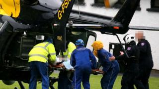 Diver airlifted to hospital
