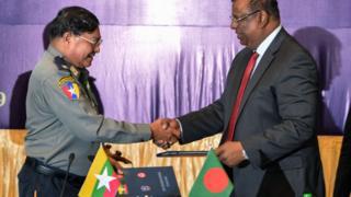 မြန်မာ-ဘင်္ဂလားဒေ့ရှ် နယ်ခြားစောင့်တပ်ဖွဲ့တွေရဲ့ အဆင့်မြင့်အရာရှိကြီးများ အစည်းအဝေး