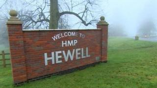 HMP Hewell prisoner 'set himself on fire while smoking Spice'