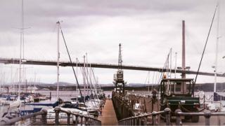 Queensferry Crossing from Port Edgar,