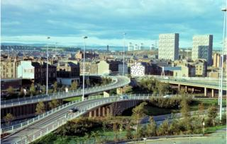 M8 at St Georges Cross (mid 1970s)