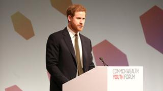 Prince Harry for di youth forum of di 2018 Commonwealth heads of state and government meeting (CHOGM)