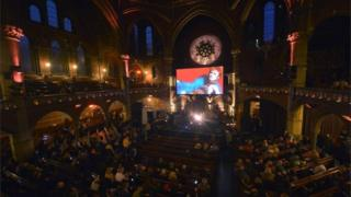 David Bowie tribute concert at Union Chapel in Islington, London