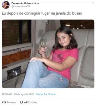 Fabiana Santoro aos dez anos