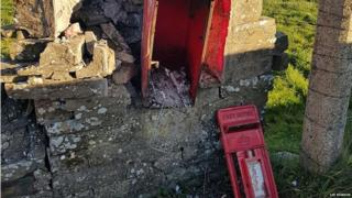 Destroyed postbox