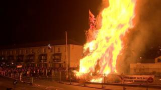 Bonfire in Londonderry