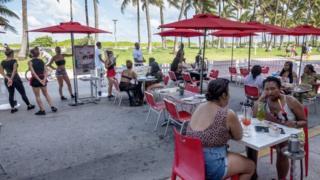 Ocean 7 cafe in Miami beach, Florida, USA, 26 June 2020