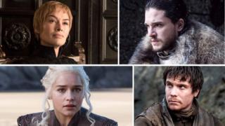 Cersei, Jon Snow, Daenerys e Gendry