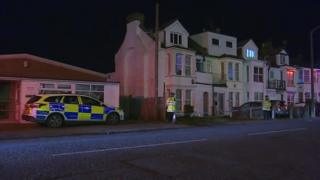 Police outside the property in Old Road, Clacton