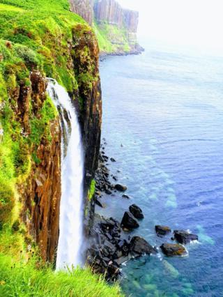 Kilt Rock waterfall on the Isle of Skye