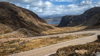 The road to Applecross known as Bealach na Ba