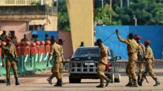 Des soldats du Burkina Faso
