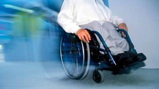 Picture of man in wheelchair