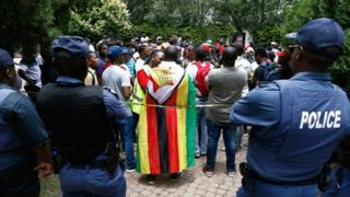 Abari mu myiyerekano muri Zimbabwe itariki 16/01/2019