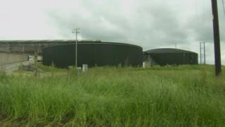 Anaerobic digester on Pollock farm